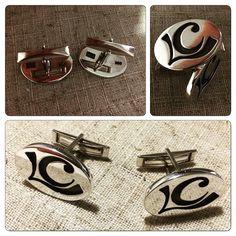 Colleras de Plata, diseño Iniciales / Silver cufflinks, initials design / #joyeria #hechura #hechoamano #jewelry #cufflinks #initials