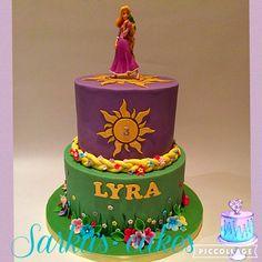 Rapunzel cake #rapunzelcake #chocolatecake #sarkascakes