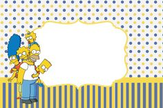 : Os Simpsons - Simpsons Party, Baby Invitations, Note Paper, 7th Birthday, Bart Simpson, Fathers Day, Diy And Crafts, Birthdays, Baby Shower