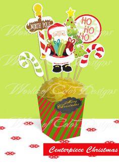 "Printable centerpiece ""Christmas"""