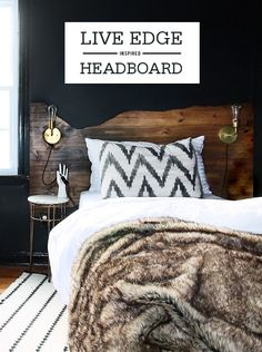 Make your own DIY rustic wood headboard for a one-of-a-kind design piece. With your favorite bedding and room accessories, this headboard will become your favorite accent piece!