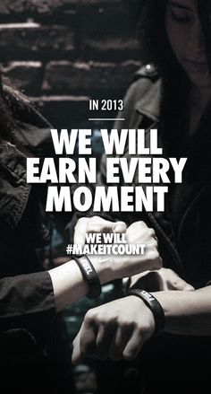 Earn every moment in 2013. #makeitcount #nike