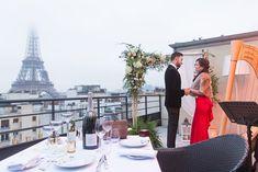 Shangri-La Luxury Paris proposal on an exclusive rooftop Romantic Proposal, Proposal Photos, Wedding Proposals, Marriage Proposals, Paris Couple, Shangri La, Rooftop, Couple Goals, Parisian
