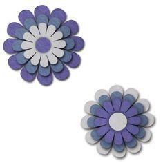 Adesivo Feltro Alecria A1203 Flores Roxo Azul Marinho e Cinza