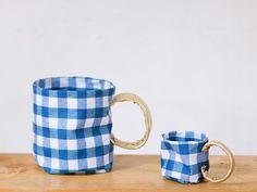 DIY Oilcloth Storage Mugs | Handmade Charlotte