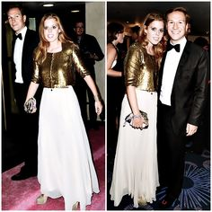Princess Beatrice and boyfriend Dave Clark, Boodles Boxing Ball, 2013