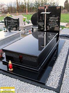 NAGROBKI POJEDYNCZE - nagrobki-gryczan.pl Cemetery Monuments, Cemetery Headstones, Tombstone Designs, Unusual Headstones, Church Interior Design, Cemetery Decorations, Yard Design, Funeral, Cool Ideas