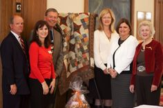 Auntie Ju's Quilt Shoppe recently participated in an event to raise funds for MS through the Baton Rouge LA MS Chapter at their 'On The Move Luncheon'. We were happy to donate the pictured quilt.Pictured left to right are, Bill Byerly, Regional Director of MS Society, Judy Williams, local chapter member, Jimmy Fahrenholtz, Regional Director of MS Society, Linda Vannoy, local chapter member, Rebecca Pennington, Regional MS staff member and Frances Billeaud, local chapter member.In a note…