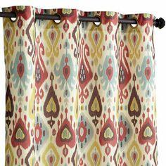 """Ikat Jewel Print Curtain - 96"""""""