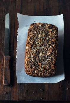 Chocolate Coconut Zucchini Bread with Coconut-Crumble Topping by Carpe Season