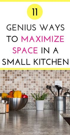 Having a small kitchen doesn't mean you are doomed for clutter! Here are 11 simple ways to maximize space and organize a small kitchen once and for all.