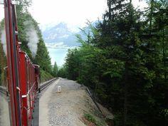 Schafberg train in Austria Happy Pics, Happy Pictures, Austria, Sidewalk, Country Roads, Notes, Train, Spaces, Walkway