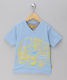 Take a look at this Blue Truck V-Neck Tee - Toddler & Boys by Funky Monkey on #zulily today!