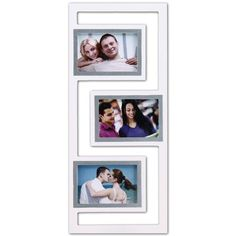 3-opening Wooden White/silver Picture Photo Frame - XSJ208 - Wall Art, Holds Three 4-by-6-inch or Three 6-by-4-inch Photos by ADECO, http://www.amazon.ca/dp/B007EFG59E/ref=cm_sw_r_pi_dp_AiDdrb1YRW3SY