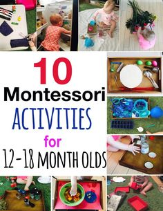 10 Montessori activities for 12 to 18 months