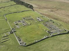 video of Housesteads Roman Fort and Hadrian's Wall from the air