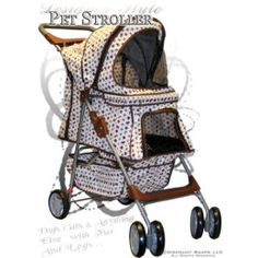 Designer Pet Stroller... talk about pampering your pet lmao