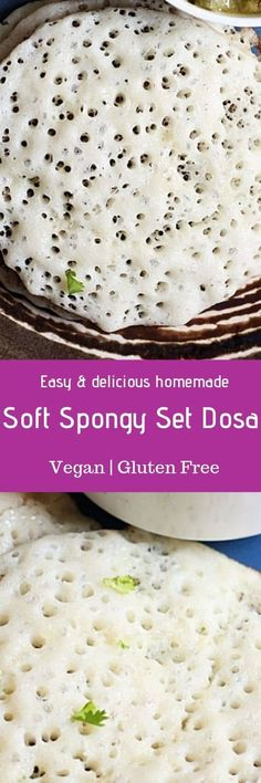 Set dosa recipe with step by step photos. Spongy, soft and light dosas served with vegetables sagu. Wing Recipes, Indian Food Recipes, Vegetarian Recipes, Free Recipes, Healthy Recipes, Breakfast Recipes, Snack Recipes, Cooking Recipes, Fun Cooking