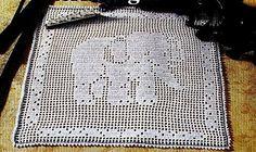Agh cute elephant crochet filet work with diagram