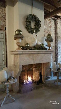Newest Photos french Fireplace Mantels Strategies Pardon my French! Anatomy of a Bilingual Fireplace. – Ancient Surfaces Purveyor of Premium Antiqu Limestone Fireplace, Concrete Fireplace, Open Fireplace, Fireplace Surrounds, Fireplace Design, Fireplace Mantels, Mantles, Gas Fireplaces, Fireplace Cover