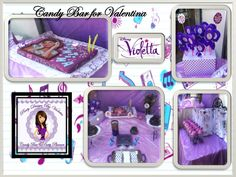 Candy Bar Violetta Disney theme party