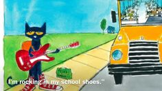 Smartboard read and sing along Pete the Cat Rocking in my School Shoes
