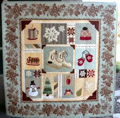 """""""Winter Memories""""quilt at Willow Tree Stitcher.  Design by Brenda Riddle at Acorn Quilt & Gift Co"""
