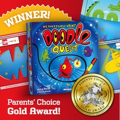 Thank you Parent's Choice! Find out why they awarded Doodle Quest a Gold Seal.   http://www.parents-choice.org/product.cfm?product_id=32509&StepNum=1&award=aw