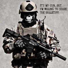 It's my gun...