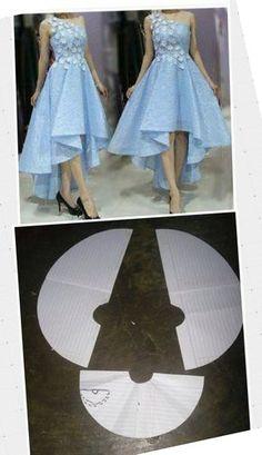 Girl Dress Patterns, Skirt Patterns Sewing, Clothing Patterns, Fashion Sewing, Diy Fashion, Ideias Fashion, Circle Skirt Pattern, Baby Dress Design, Designs For Dresses