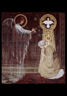 "Annunciation:  The angel said to Mary, ""You shall conceive and bear a son and give Him the name Jesus.  And He will be called Son of the Most High.""  Luke 1: 31-32"
