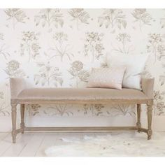 Fawn Velvet Bedroom Bench - French Bedroom Company Sale