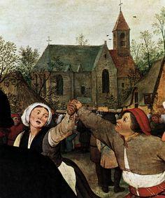 Крестьянский Танец, Питер Брейгель Старший (Голландия 1525~1569 Бельгия)    _   The Peasant Dance, Pieter Bruegel The Elder (Holland 1525~1569 Belgium)