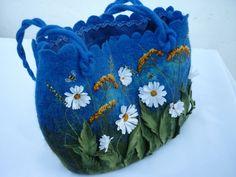 Nass Gefilzte Tasche Womens Gefilzte Tasche mit von ViktoriyaSK