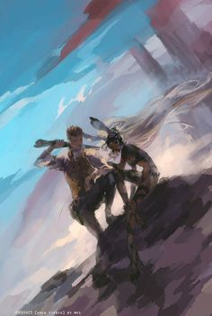 Two of a Kind - Fran and Balthier [via]