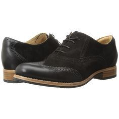 Sebago Claremont Brogue (Black Suede) Women's Lace Up Wing Tip Shoes ($140) ❤ liked on Polyvore featuring shoes, oxfords, oxford brogues, wingtip shoes, wing tip oxfords, oxford shoes and suede oxford shoes