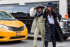 Christina Caradona wearing Samuji Starling Top and Penguin Trousers at New York Fashion Week