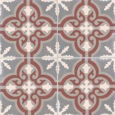 Carreaux de ciment - décors 4 carreaux - Carreau TROUVILLE 32.07.27.23 - Couleurs & Matières