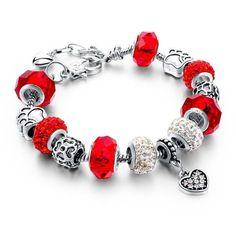 Heart Charm Bracelets  Bangles Gold Bracelets For Women DIY Famous Brand Jewellery