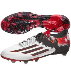 promo code c6921 016ad Adidas Messi 10.2 FG, White Black Red  Shoes Messi 10, Soccer