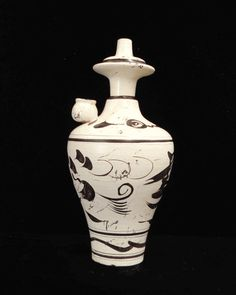 $90 on SALE Chinese Ceramic Pottery Fish Pattern Vase Display - Golden Lotus Antiques