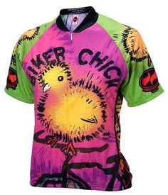 Biker Chick - Chick on a Bike Womens Cycling Jersey by World Jerseys 0072928eb