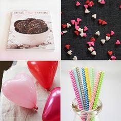 Festive Party Supplies & Treats from Mignon Kitchen Co. Heart balloons!!!
