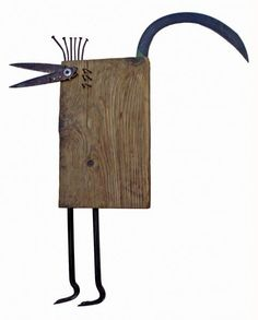 sculptures from recycled materials Found Object Art, Found Art, Recycled Art, Recycled Materials, Metal Crafts, Wood Crafts, Metal Sculpture Wall Art, Metal Sculptures, Decoration Originale