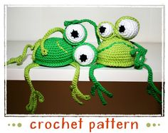 Looking for your next project? You're going to love Frog - Shelf Sitter - Crochet Pattern by designer stephanie. - via @Craftsy