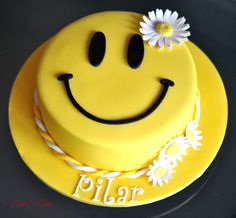 Cherry's Cakes: Happy Face for our dear friend Pilar
