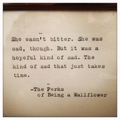 The Perks of Being a Wallflower Quote Typed on by farmnflea