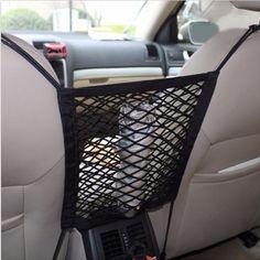 Car Trunk Interior Organizer Bag Rear Seat Storage Mesh Cargo Net Holder Pocket