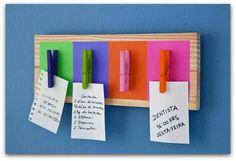 Handig bord voor memo briefjes :)