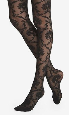 BAROQUE LACE SHEER FULL TIGHTS